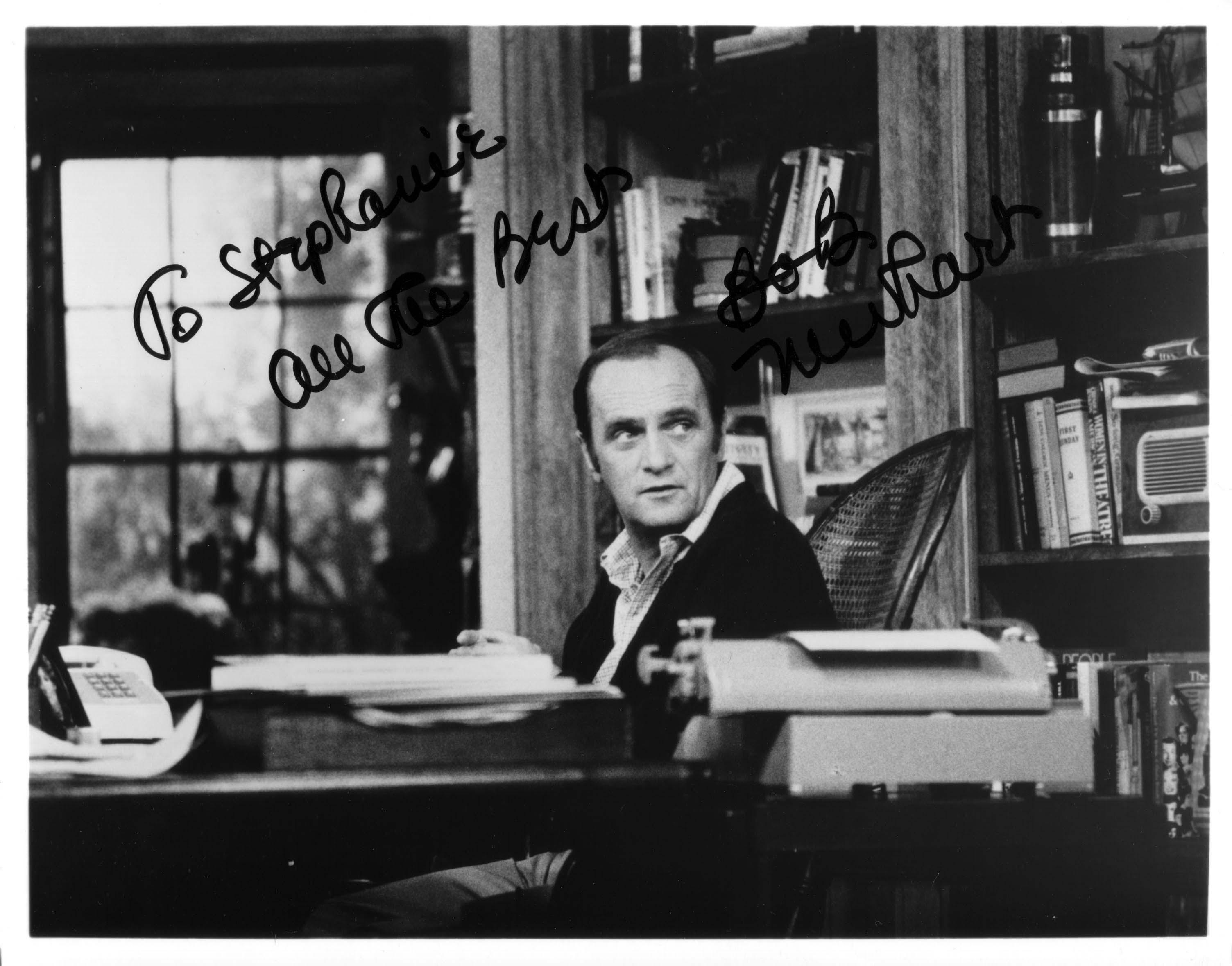 Bob Newhart Autograph circa 1989